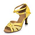 populares dama profesional del dedo del pie abierto salón de baile latino de baile de salsa zapatos
