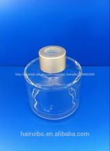 caliente de la venta al por mayor 100ml claro ronda difusor de aroma botella vacía de china