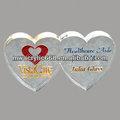 personalizado en forma de corazón pisapapeles de acrílico para el regalo