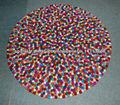 Felt Ball Carpet/Rug100% Wool Felt Carpet