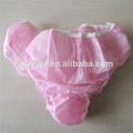 bonito tecido mulheres calcinhas descartáveis breve para spa