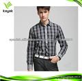 nuevos cuadros jóvenes camisa camisa de los hombres casuales de manga larga