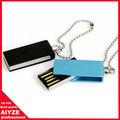 Mini venta al por mayor usb del eslabón giratorio, flash drive 2gb