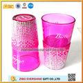 venta al por mayor de diamante personalizado pinta vasos de cerveza con el logo de impresión