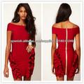 El envío libre 2014 más nuevo diseñador del vestido de una sola pieza del partido