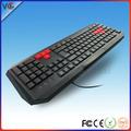 Vmq-22 directa de la fábrica de color del teclado de computadora, los tipos de teclado de la computadora