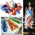 lujoso sofisticado koi el patrón de tela para la industria textil importadores de tela para la venta