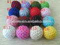 Venta al por mayor cuentas chunky, 20mm tejido acrílico cuentas crochet, cuentas de colores para pulseras chunky
