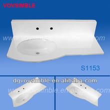 cabinet basin&corian solid surface rectangular bathroom sink