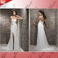 hum jw0577 ombro ata acima de chiffon com a fenda sam o simples com base em elegante vestido de de noiva 2013