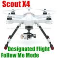 X4 Escoteiro profissional para fotografia aérea zação chão zangão designado vôo 8 motores de helicóptero zangão