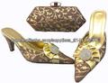 Nouvelle arrivée de haute chaussures italiennes de qualité et sac ensembles assortis pour femmes