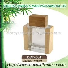 De vidrio de cristal botellas de perfume de envases eco- ambiente de envases cosméticos de madera vacía botella de perfume