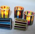 Suporte de vela tealight mosaico de vidro do cilindro lâmpada mosaico turca