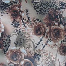 vestido de roupa de neve desgaste flor tecido estampado