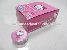 excelente calidad de goma de mascar con hello kitty bonito 3d etiqueta