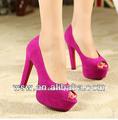 2014 simple del dedo del pie abierto plataforma de nuevo diseño de moda sandalias de color rosa para la mujer de la moda