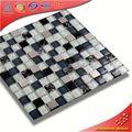 KS248 China la decoración piso color beige mosaico de vidrio de cristal