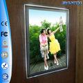 publicidade janela de acrílico foto diodo emissor de luz de cristal display retroiluminado