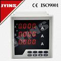 alta qualidade CE programável digital LED trifásico amperímetro e voltímetro JYK-96-3A