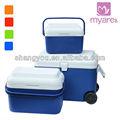 Plástico 3pcs rodando cajas frías 50L/22L/8L