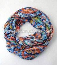 Wlhh0222-31 2014 paisley de impresión especial con infinidad de tejer bufandas