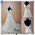 jj3530 de cola de pescado de la boda vestido de corte sirena de encaje de la boda vestido de patrones