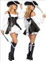 calidad superior de las mujeres capitán pirata traje de cosplay