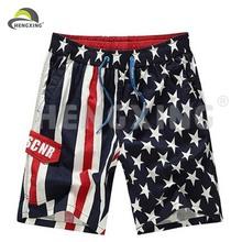 venta al por mayor para hombre de verano playa deportes de poliéster de los pantalones cortos