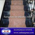 granito rojo del arce escaleras y pasos