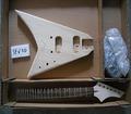 Flying V estilo kits de guitarra eléctrica DIY
