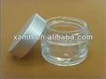 30ml creme jarra de vidro com tampa de alumínio