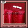 jacquard mantel redondo rojo