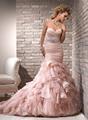 venta caliente de alta calidad baratos elegante falda de volantes de organza de novia vestidos de china