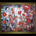 flor de la pintura al óleo decorativa abstracta moderna para la venta