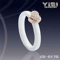 Blancos eternos los anillos de bodas de cerámica, anillos de plata de cerámica Amor Eterno