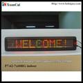 P7.62-7x60RG tri-color pantalla de mensajes matriz de leds