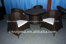 venta caliente al aire libre al aire libre sintético conjunto de mesa