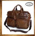 Mochila multifuncional vintag hombre de cuero genuino bolsa de hombro bolsa de mensajero #6003