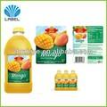impresión en color cmyk personalizado de plástico adhesivo de la etiqueta para los productos alimenticios