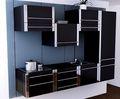 superfície de acrílico e madeira compensada de bordo para o armário de cozinha porta