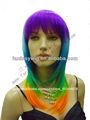 St 2014 baratos colorido sintético peluca cosplay( gf- w1514 #g26)