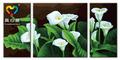 2014 la venta caliente tríptico decorativo pintura al óleo moderna sobre lienzos