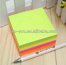 Bloque de memo cubo& bloque de papel esterasdecoches& cubo bloc de notas