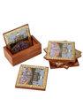Práctico de costa de madera del té con la piedra preciosa Conjunto de la pintura de 6Pcs