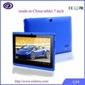 usb android tablet pc controlador Q88 PC de la tableta de 7 pulgadas, androide 4.2, 8GB HDD, cámara dual de doble núcleo