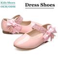 2014 más nuevo diamante de cuero de diseño de moda bowknot zapatos de los niños para la fábrica de las niñas