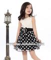 2014 de verano blanco punto de onda rose red velo de venta al por mayor ropa infantil niños vestido de boda vestidos de novia