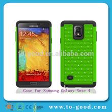 Fabricantes de alibaba cubierta del teléfono móvil para samsung galaxy nota 4 n9100( verde)