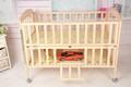 Super calidad de la cama para bebés, ajustable, movible, de madera plegable& de bambú del pesebre